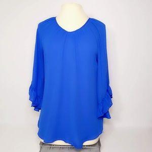 NWOT Cato Blue Blouse size medium